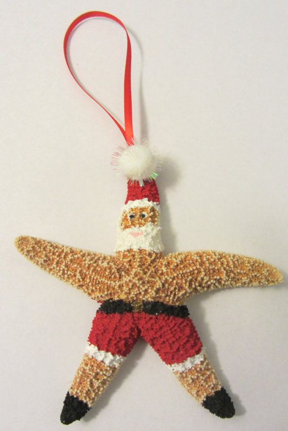Starfish Ornament  Beach Themed Holiday Ornament by CereusArt, $10.00