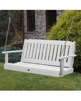 highwood® Lehigh Recycled Plastic Porch Swing, Beige