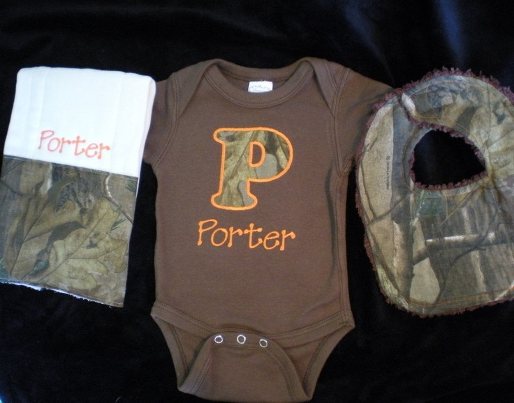 72 best camo baby clothes images on pinterest babies clothes baby boy gift set real tree camo personalized brown onesie and burp cloth with matching negle Image collections