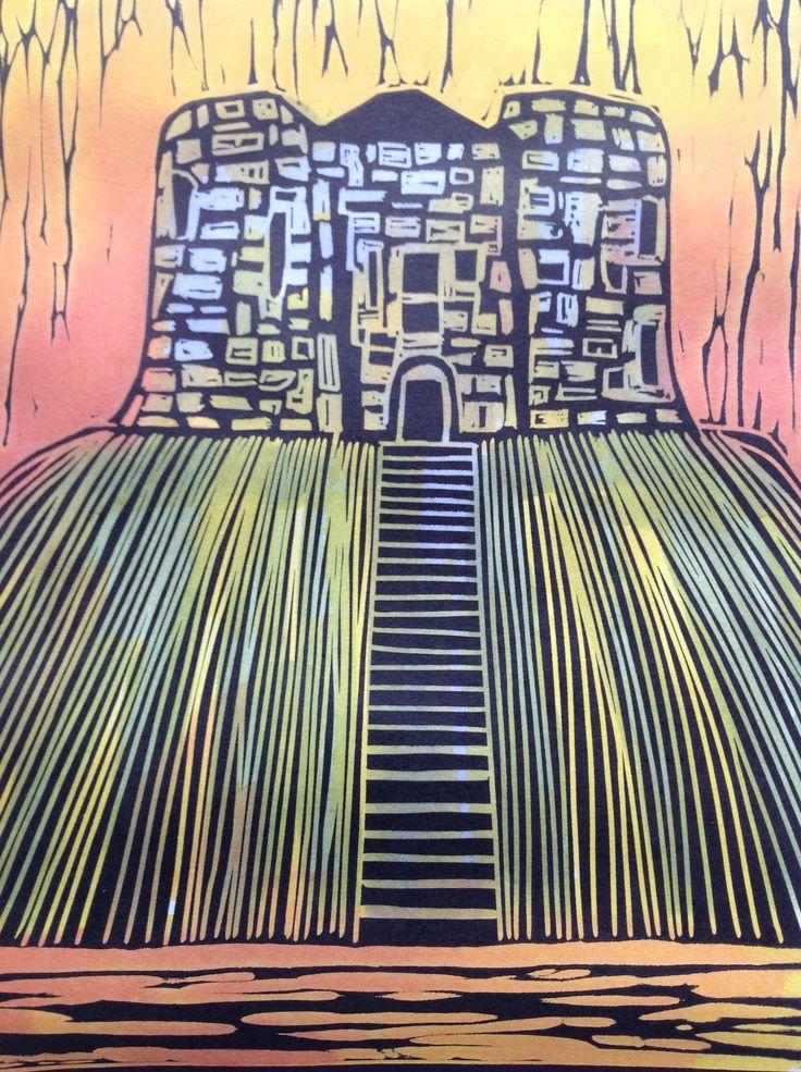 Art Lino cut Clifford's Tower, York