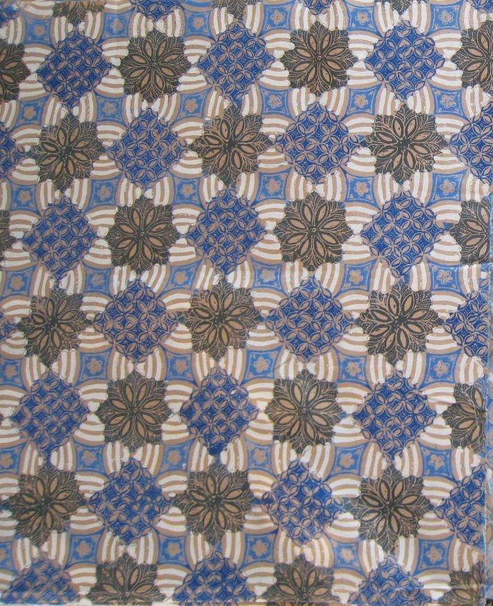 Hand screened, bold, block pattern #batik print from Pekalongan, Indonesia.