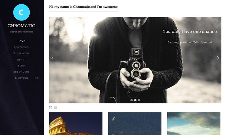 Chromatic - WordPress Photography Theme   Graph Paper Press