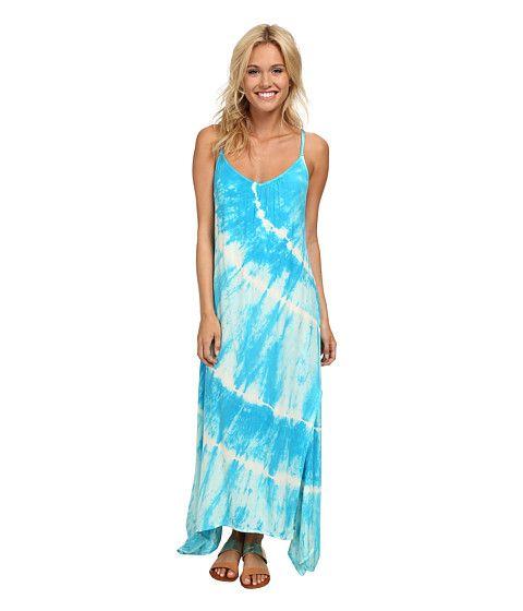 Биллабонг соль оцепенении платье Фиджи синее - Zappos.com Бесплатная доставка в обоих направлениях