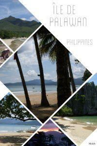 Page du blog consacrée à l'île de Palawan, Philippines