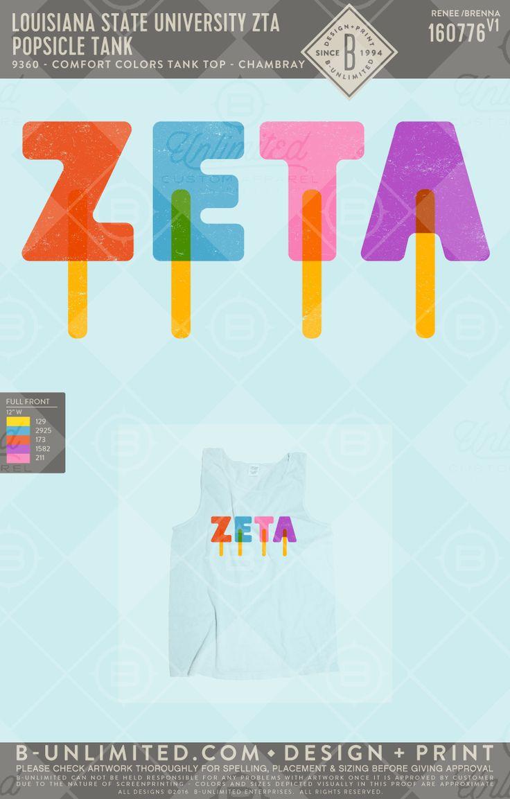 Beat the heat with ZTA #greekshirts #greektshirts #greek #greektees #greeklife #sorority #ZTA #zetataualpha #zeta #popsicles #springbreak #PR #summer
