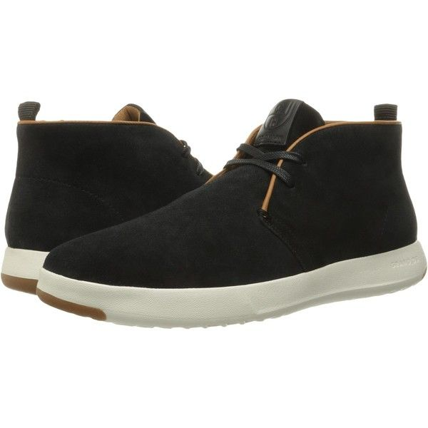Cole Haan GrandPro Chukka (Black Oiled Velour Suede) Men's Boots ($90) ❤ liked on Polyvore featuring men's fashion, men's shoes, men's boots, black, mens black chukka boots, mens chukka boots, mens suede shoes, mens shoes and mens shoes chukka boots