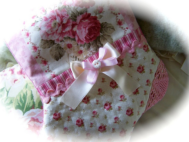 Shabby Cottage chic christmas stocking by Created by Cath., via Flickr