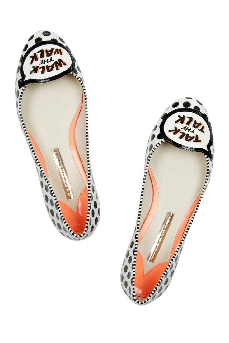 Sophia Webster Jerry Appliquéd Leather Flats, $420