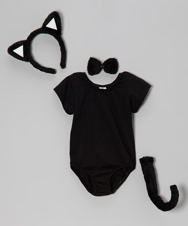 Take a look at this Black Cat Dress-Up Set - Infant & Toddler by Bride and Babies on #zulily today! awwwww
