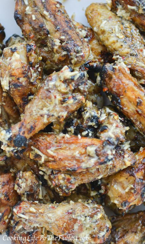 Grilled Garlic Parmesan Wings