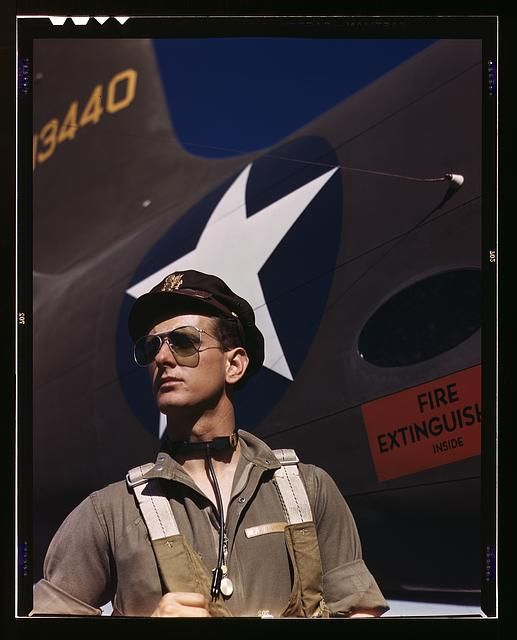 Army test pilot 1942; from the Library of Congress FSA/OWI collection
