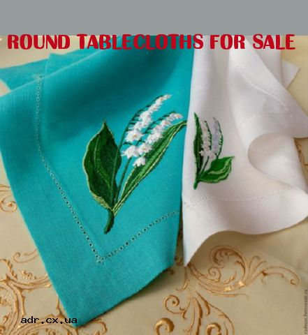 round tablecloths for sale