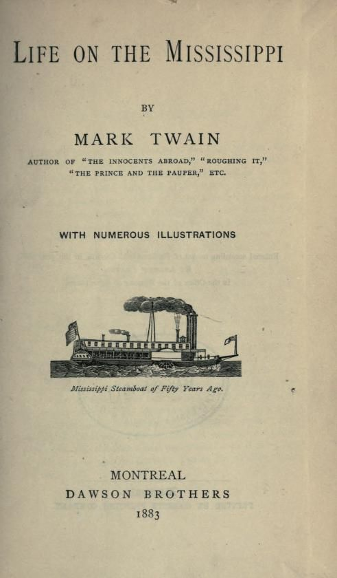 Reading the river by mark twain