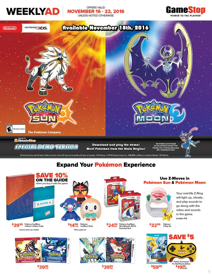 Game Stop Weekly Ad November 16 - 22, 2016 - http://www.olcatalog.com/game-stop/game-stop-weekly-ad.html