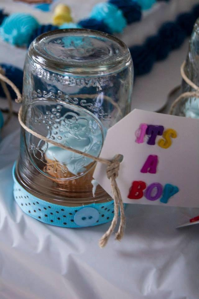 Mason Jar Baby Shower Favors! Super Easy.! Itu0027s A Mason Jar Upside Down