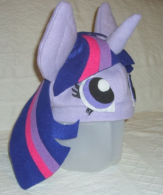 Twilight Sparkle Fleece Hat by CreationsByPlumeria on Etsy