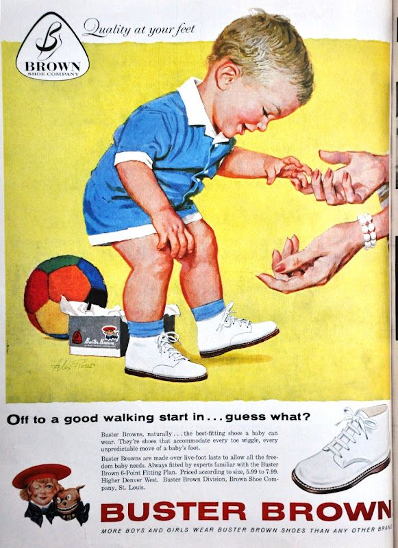 Baby's first walking shoe. I remember those stiff hard soled shoes-kept baby from tipping over!