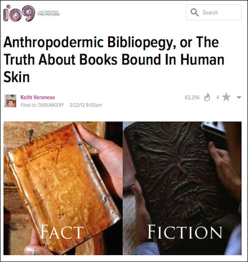 Book Covered In Human Skin : Human skin covered books the evil that men do