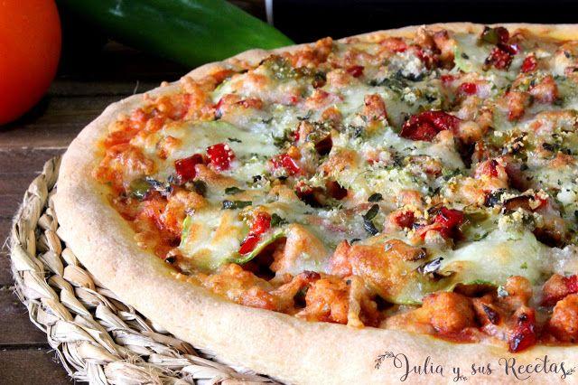 Pizza campera con masa casera