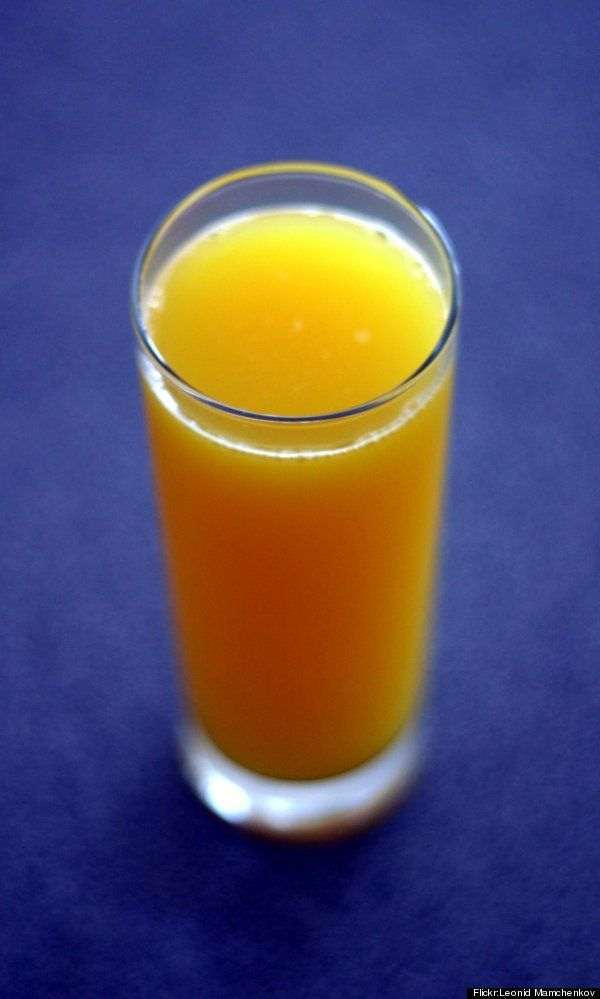 """Oh No. Say it ain't so. I love OJ!... Pour Out That Juice: Next time you're craving a cold glass of juice with your breakfast, think again. """"Juice is sugar that is unwrapped from its fiber source, and whenever you unwrap sugar from its fiber source, it can turn toxic in your body,"""" said Dr. Amen."""
