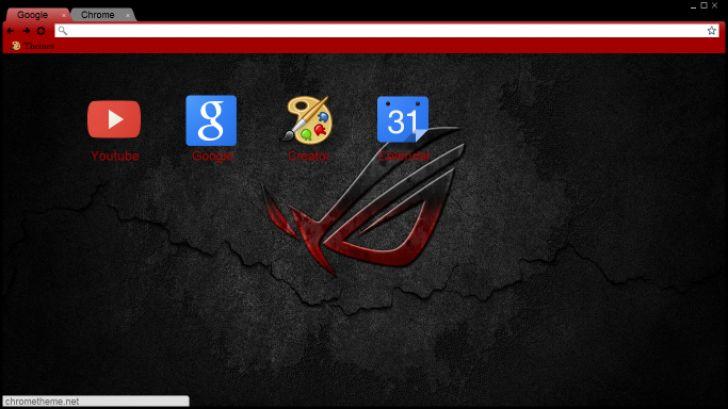 Black & Red Asus Chrome Theme - ThemeBeta