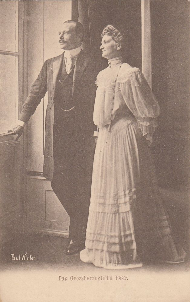 Grand Duke ERNST LUDWIG of Hesse and the Rhine with his wife RARE pcd