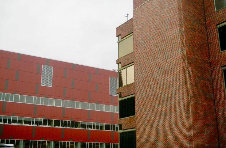 University of Massachusetts, Lowell, MA ... transition brick/metal panels.