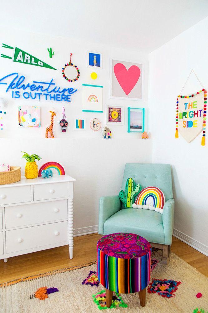 Colorful Kids Nursery Rainbow Room Home Design Ideas Kid Room