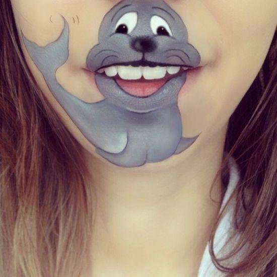 Смешные рисунки на носу