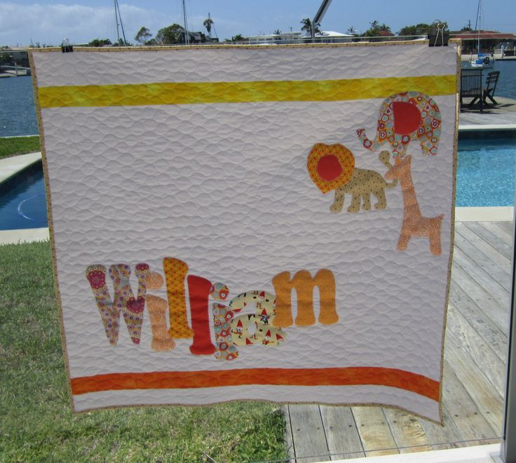 Williams quilt with African animals is off to live in MACKAY