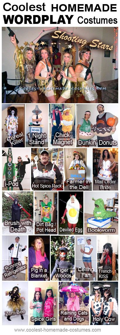 Homemade Wordplay Costumes Collection