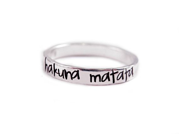 I have this ring and love it. Got it at https://www.etsy.com/listing/177962782/sterling-silver-hakuna-matata-ring-hand