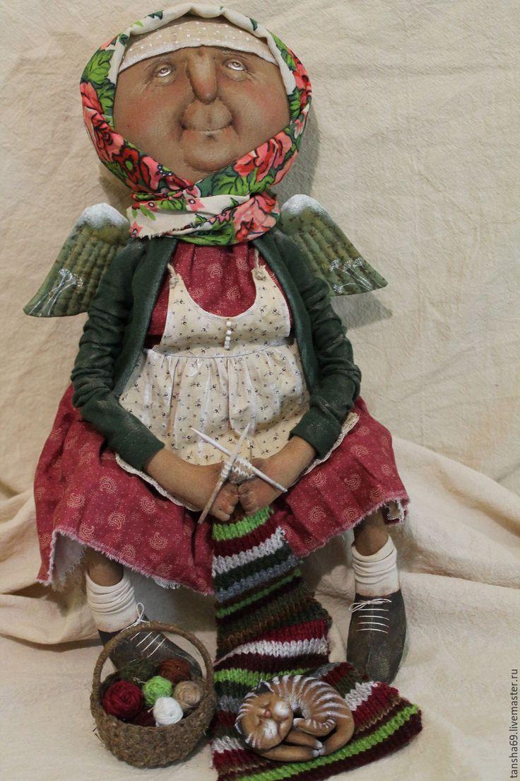 Купить Я свяжу тебе жизнь... - комбинированный, текстильная кукла…