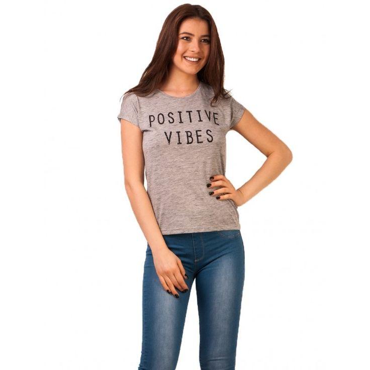 Bluza Dama Positive Vibes Grey