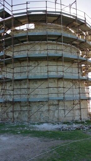 Torre di Capo Malfatano. Lavori in corso.