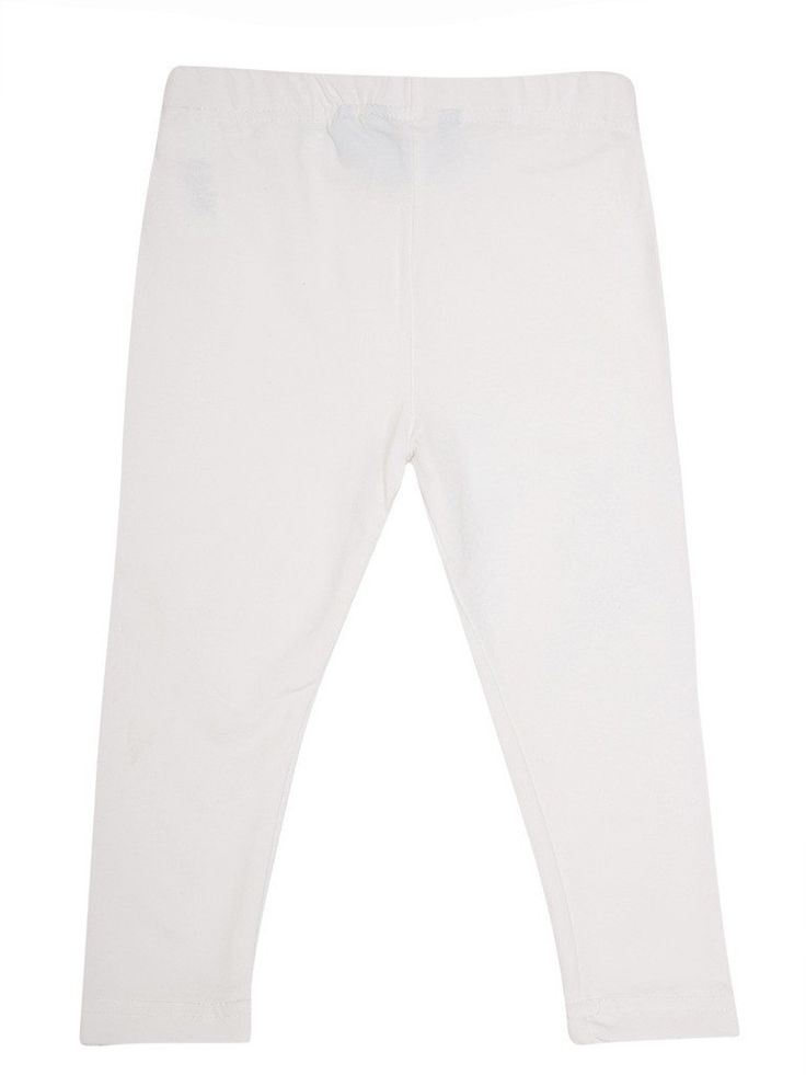 De Moza Young - Girls Leggings Ankle Length Solid Viscose Lycra White 8-9Yrs  #onlineshopping #harem #cybermonday #legging #pants #freeshipping #fashionblogger #tops #skirts #goldlegging
