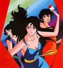 Cat's eye - the story follows the adventures of the three Kisugi sisters, Hitomi, Rui and Ai, who are art thieves trying to collect all the works belonging to their missing father.