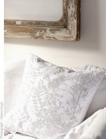 Signature print cushion. 58 x 58cm. Print design by Matthew Usmar Lauder screen printed onto linen.  www.thestanleysupplystore.com