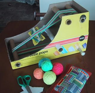 Weaving doesn't have to be a big investment!! Hearts on Fibre: DIY Cardboard Box Inkle Loom Tutorial