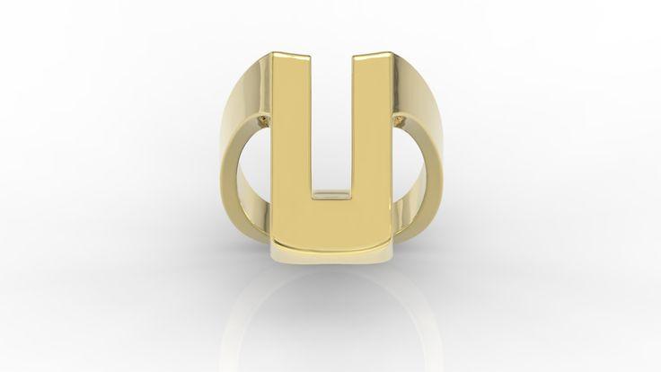 Nietuzinkowy złoty pierścionek/ Ring made from gold  #jewellery #ring #gold #gift #art #design