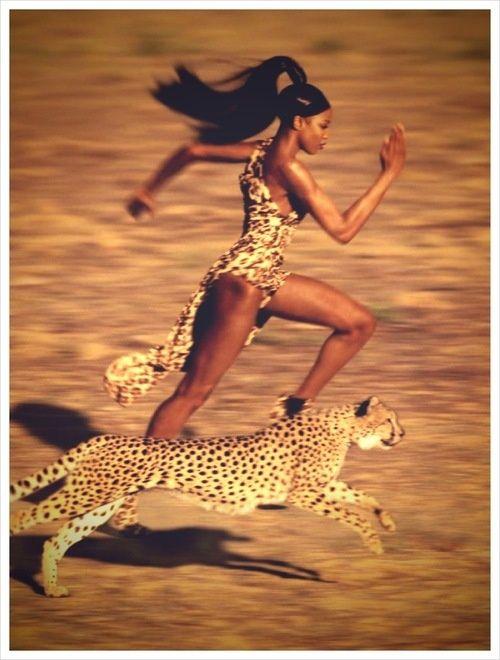 Jean-Paul Goude, Naomi Campbell, Harper's Bazaar #photography