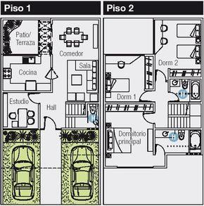 Amazing PLANO DE 120 M2 PARA CASA DE 8X15 METROS : PLANOS DE CASAS GRATIS Y  DEPARTAMENTOS · Puerto RicoHome PlansFloors