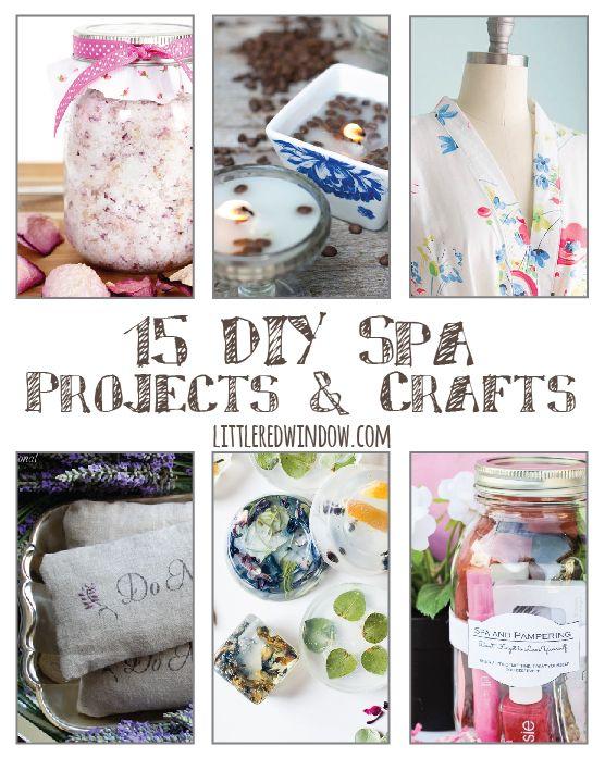 15 Relaxing DIY Spa Projects & Crafts | littleredwindow.com