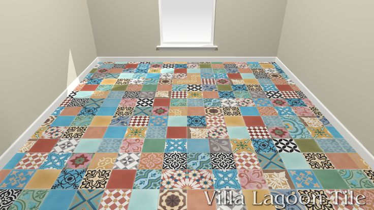 Patchwork Cement Tile, from Villa Lagoon Tile