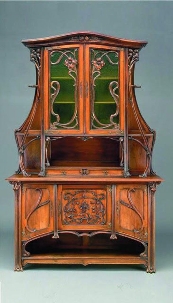 Art Nouveau Walnut Dresser And Art Nouveau Furniture On Pinterest