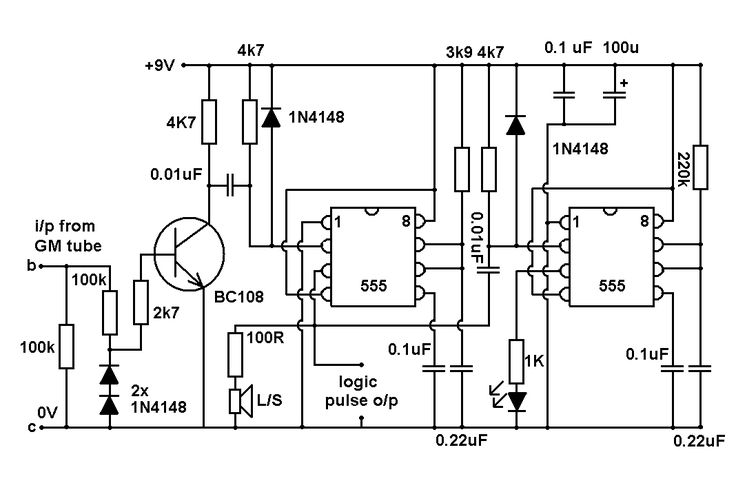 geiger detector circuit