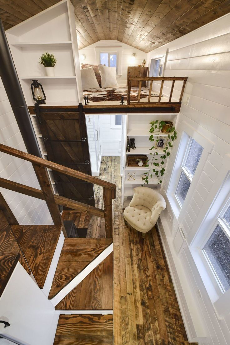 Rustic Loft -- A luxury 273 square feet tiny house on wheels built by Mint