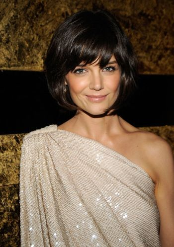 Katie Holmes, love the hair and the dress: