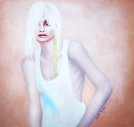 Masha  Vereshchenko  Andrej Pejic  - 2014   Acrylic on canvas   58.5 x 58.5 cm