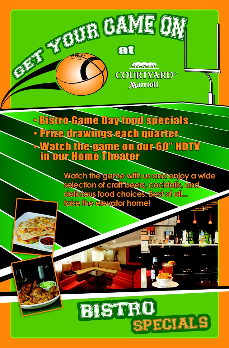 Special event flyer designed for the #Courtyard by Marriott by #ATH Marketing. www.athmarketing.com